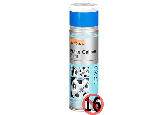 Halfords Brake Caliper Spray Paint Blue 300ml