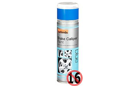 image of Halfords Brake Caliper Spray Paint Blue 300ml