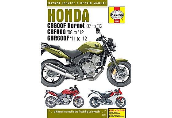 Haynes Honda CB600 Hornet, CBF600 & CBR600F (07 - 12) Manual