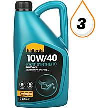 image of Halfords 10W40 Part Synthetic Petrol & Diesel Oil 2L