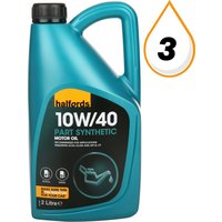 Halfords 10W40 Part Synthetic Petrol & Diesel Oil 2L