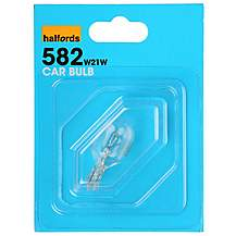 image of Halfords 582 W21W Car Bulb x 1