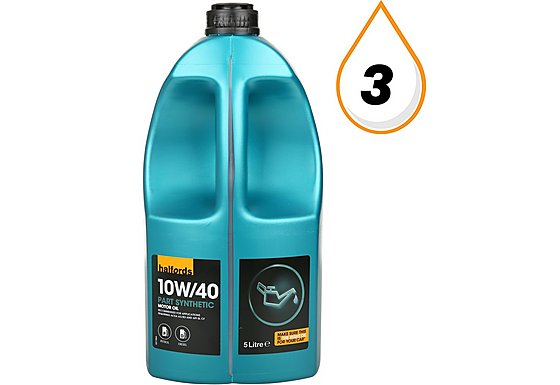 Halfords 10W40 Part Synthetic Petrol & Diesel Oil 5L