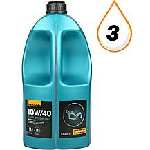 image of Halfords 10W40 Part Synthetic Petrol & Diesel Oil 5L