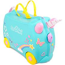 image of Trunki Una the Unicorn Ride on Suitcase