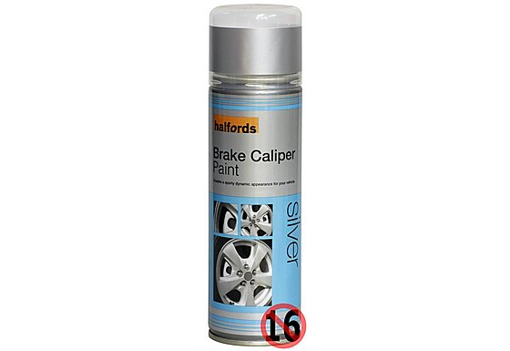Halfords Brake Caliper Spray Paint Silver 300ml
