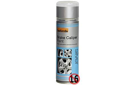 image of Halfords Brake Caliper Spray Paint Silver 300ml