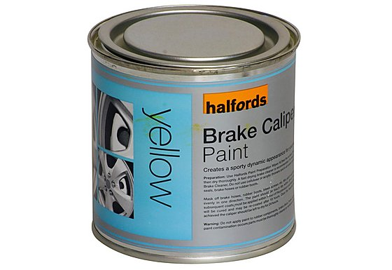 Halfords Brake Caliper Paint Yellow 250ml