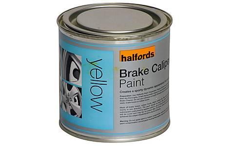 image of Halfords Brake Caliper Paint Yellow 250ml
