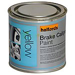 image of Halfords Brake Caliper Paint Yellow 250ml