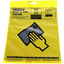 image of Halfords Wet & Dry Sanding Paper 15 Assorted Sheets