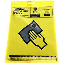 image of Halfords Wet & Dry Sanding Paper 4 Assorted Sheets