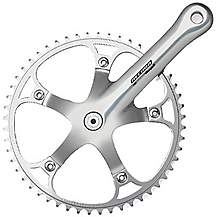 image of Campagnolo Record Pista Chainset, Silver