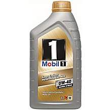 image of Mobil 1 Fully Synthetic 0W40 Engine Oil 1L