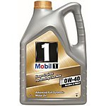 image of Mobil 1 Fully Synthetic 0W40 Engine Oil 5L