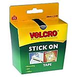 VELCRO#174; Brand Stick on Tape 20mm x 2.5m (Black)