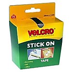 image of VELCRO#174; Brand Stick on Tape 20mm x 2.5m (Black)