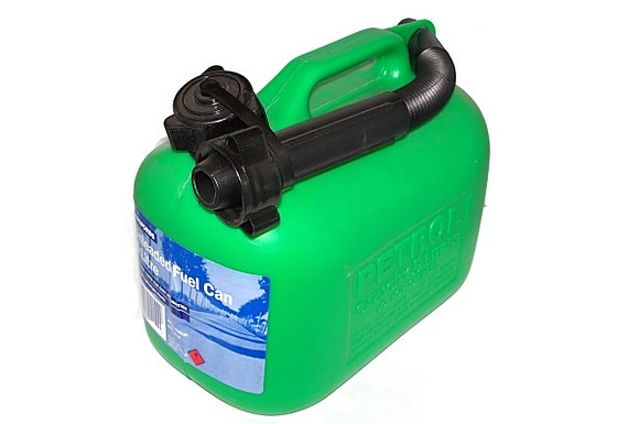 Halfords Green Plastic Petrol Can 5L