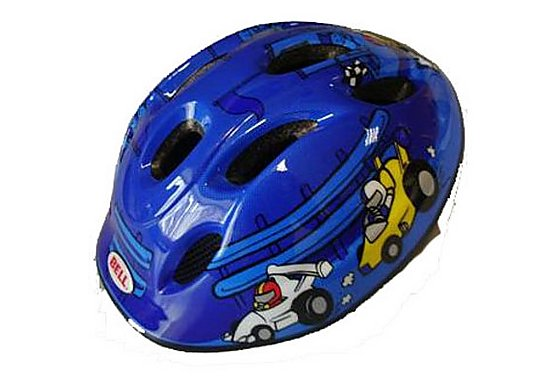Bell Jumpstart Blue Cars Bike Helmet (48-53cm)