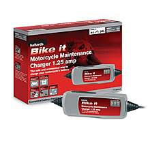 image of Halfords Bike it Motorcycle Maintenance  Charger 1.25 Amp