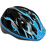 Blue Flames Helmet
