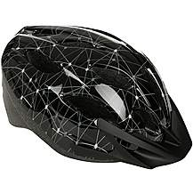 image of Black and Grey Lines Kids Bike Helmet