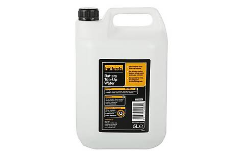 image of Halfords Battery Top-Up Water 5L