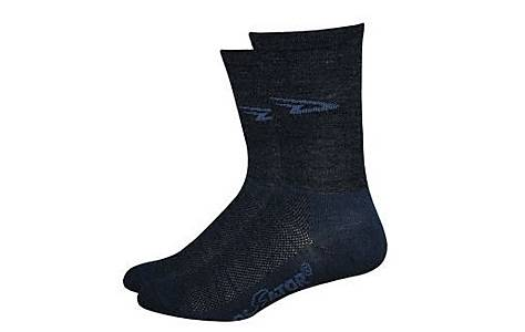 image of Defeet Hi Top Charcoal Socks