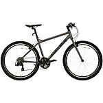 image of Carrera Axle Mens Hybrid Bike - Grey
