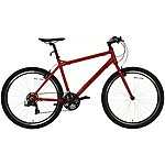 image of Carrera Axle Mens Hybrid Bike - Red