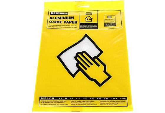 Halfords Aluminium Oxide Paper 60 Grit