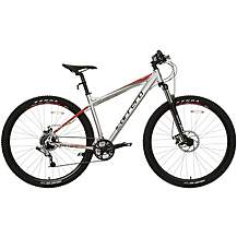 "image of Carrera Hellcat Mens Mountain Bike - Silver - 16"", 18"", 20"" Frame"
