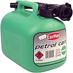 image of Halfords Green Plastic Petrol Can 5L