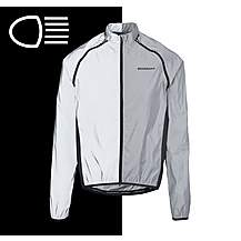 image of Boardman Mens Reflective Removable Sleeve Cycling Jacket