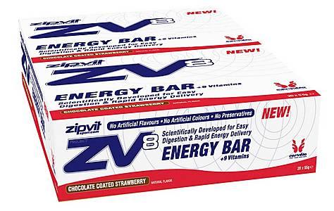 image of ZipVit Sport Zv8 Energy Bars - 20 x 55g -