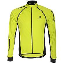 image of Boardman Mens Removable Sleeve Cycling Jacket Fluro/Black