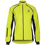 Boardman Womens Removable Sleeve Cycling Jacket Fluro Lime