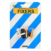 image of Number Plate Fixers - Nylon Nuts and Bolts