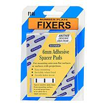 image of Number Plate Fixers - 6mm Adhesive Spacer Pads