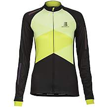 image of Boardman Womens Long Sleeve Thermal Jersey Black/Green
