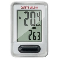 Cateye Velo 9 Wired Cycle Computer - White