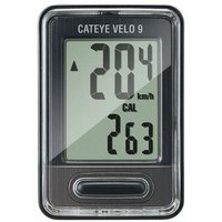 Cateye Velo 9 Wired Cycle Computer - Black