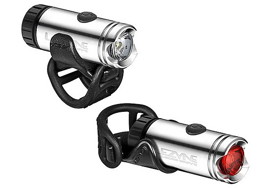Lezyne LED Micro Drive Bike Light Pair - Silver