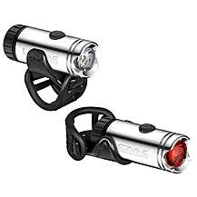 image of Lezyne LED Micro Drive Bike Light Pair - Silver