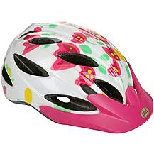image of Bell Buzz Flowers Kids Bike Helmet