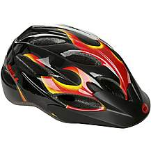 image of Bell Buzz Flames Kids Bike Helmet