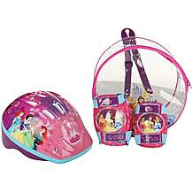 image of Disney Princess Helmet, Knee & Elbow Pad Backpack Set