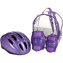 image of Lilac Helmet and Pads Backpack