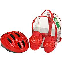 image of Red Helmet and Pads Backpack