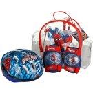 image of Spiderman Helmet, Knee & Elbow Pad Backpack Set